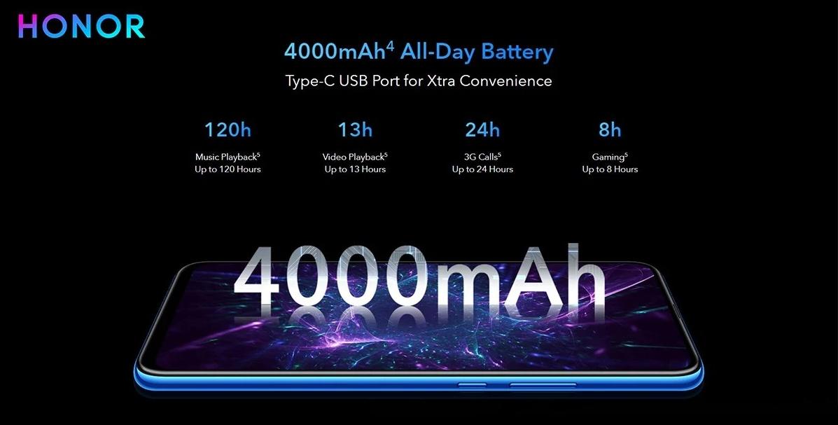 Huawei Honor 9X - Battery