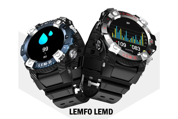 LEMFO LEMD - Smartwatch with built-in wireless earphones
