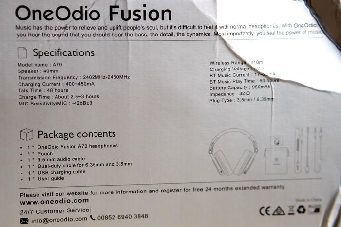 OneOdio A70 - Box 2