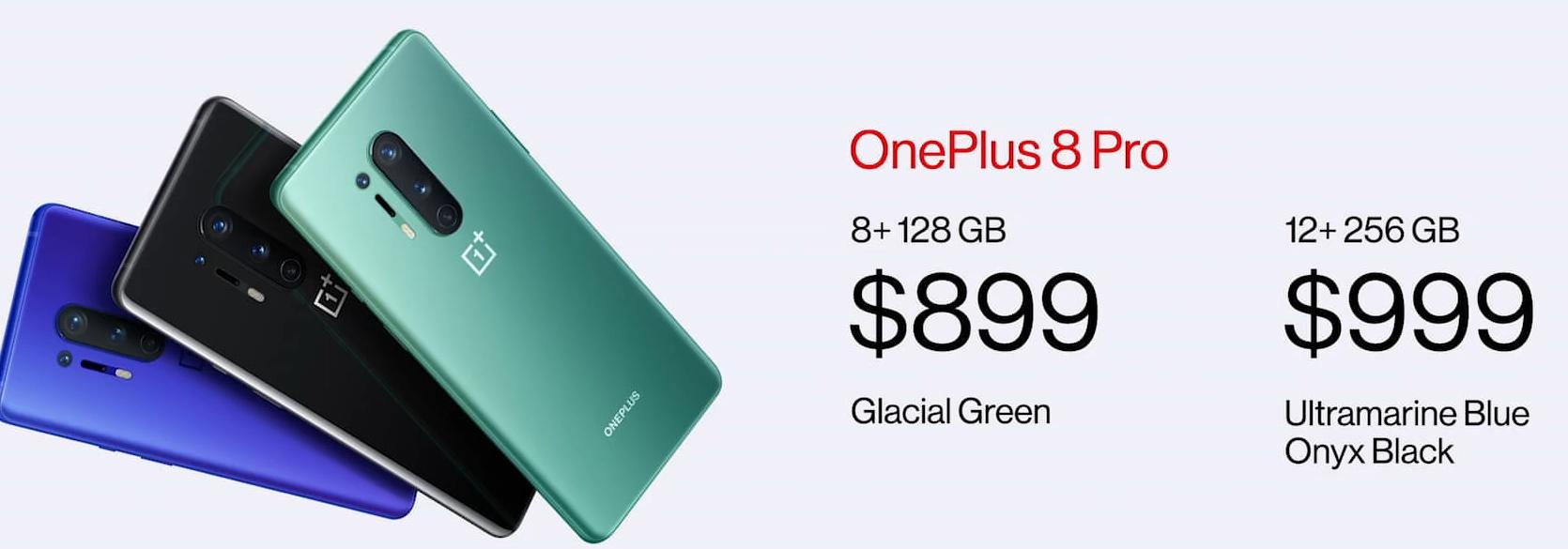 OnePlus 8 Pro - Price