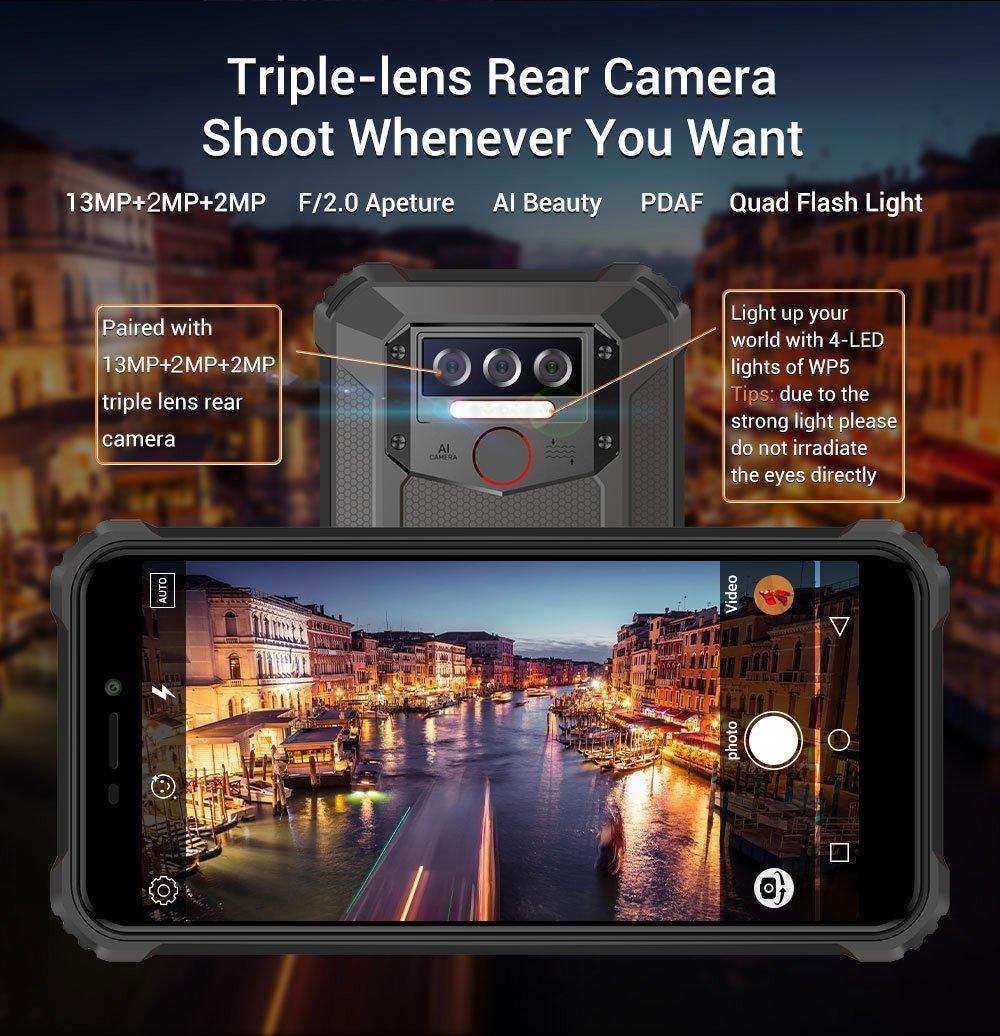 Oukitel WP5 - kamera