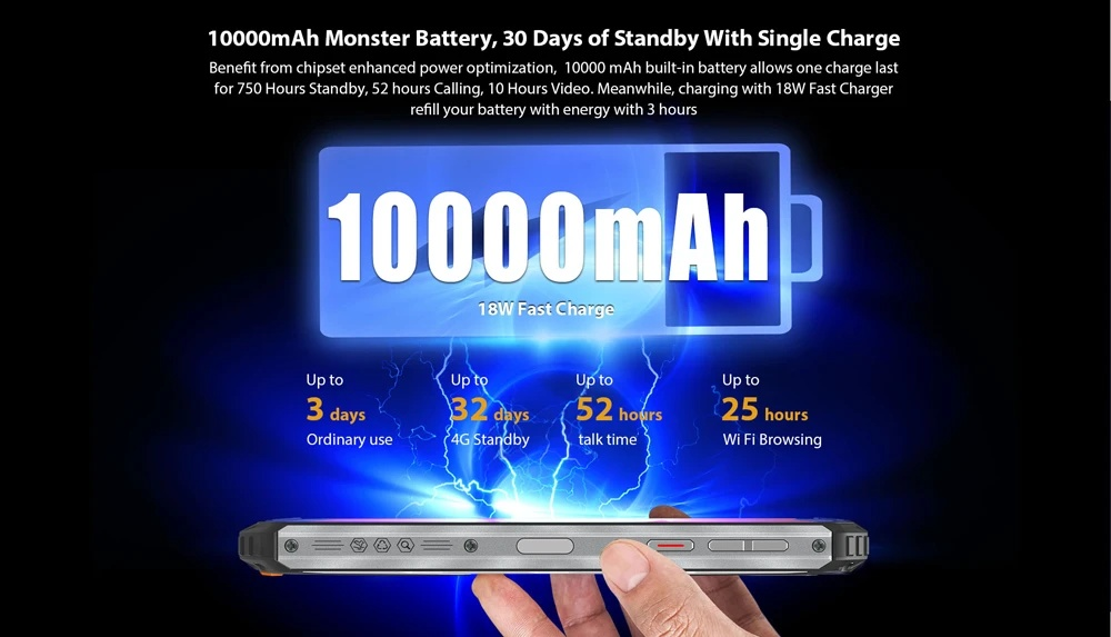 Oukitel WP6 - 10000mAh Battery