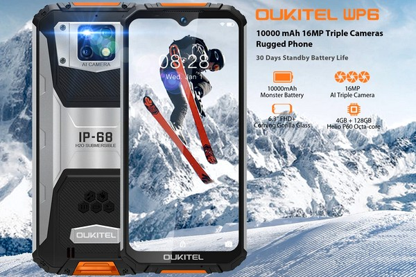 Oukitel WP6 - Rugged mobile with huge battery is now available for only $160