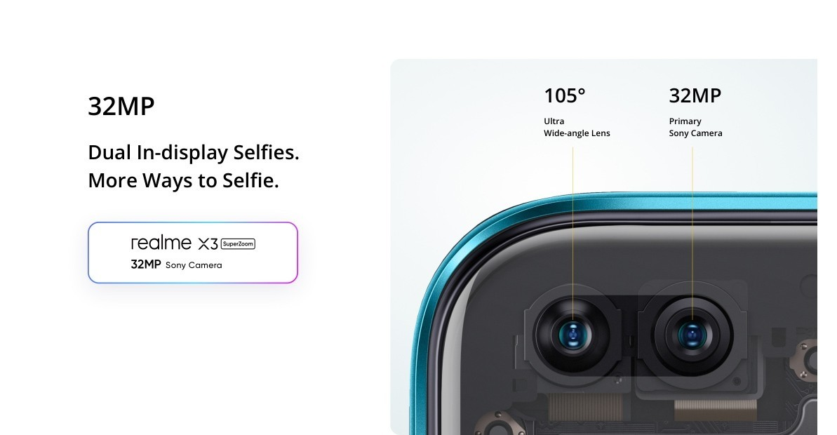 Realme X3 SuperZoom - Selfie camera