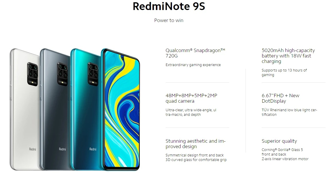 Redmi Note 9S - Specifications