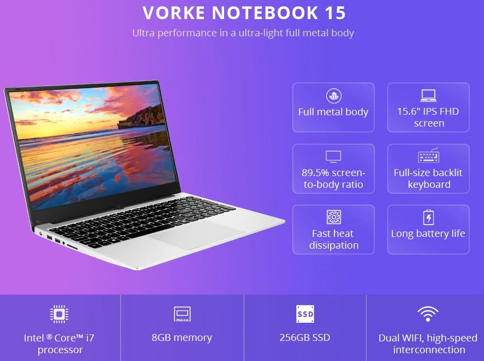 VORKE Notebook 15