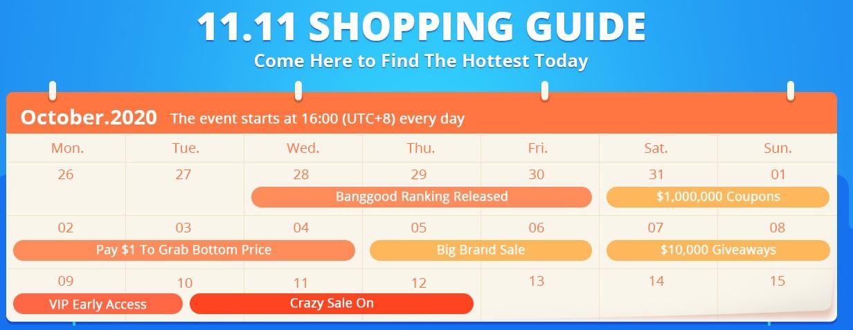 Banggood - 11.11 Shopping Guide