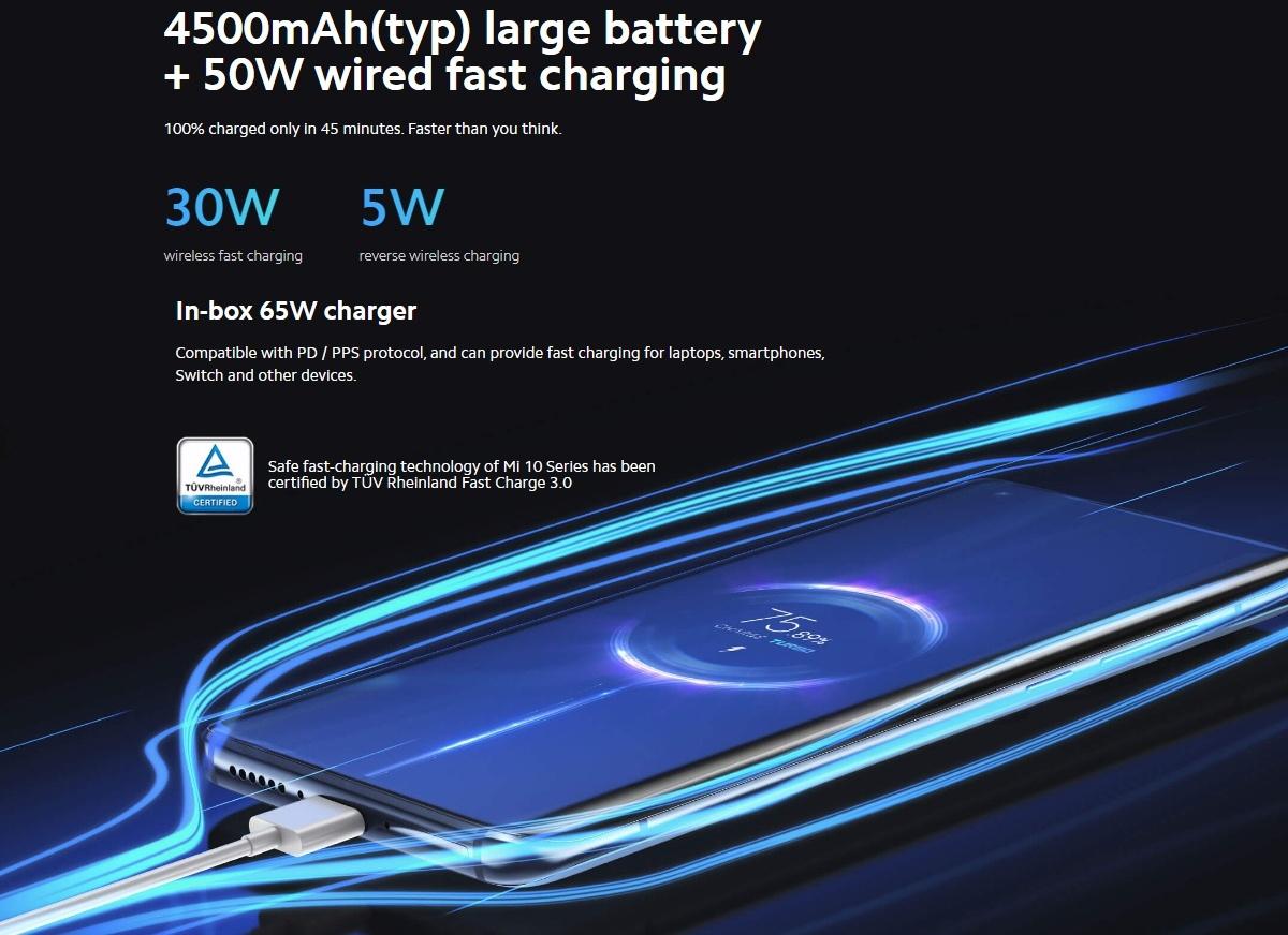 Xiaomi Mi 10 Pro - Charging
