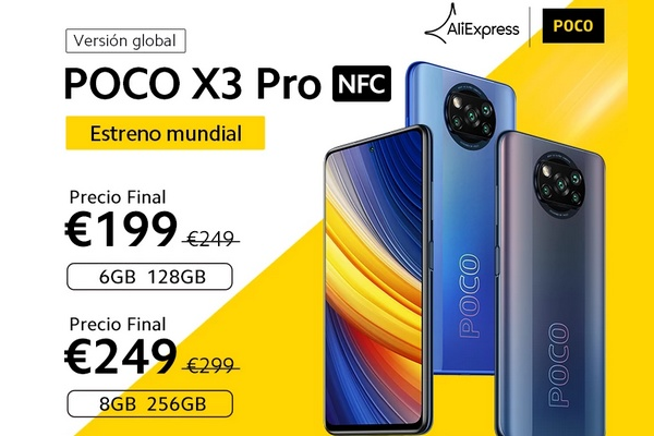 The new POCO X3 Pro mobile is also available from Aliexpress EU warehouse