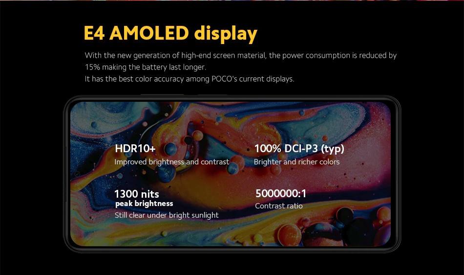POCO F3 - E4 Amoled Display