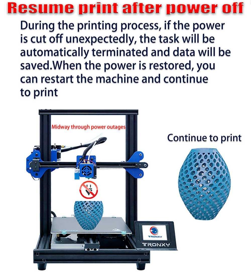 Tronxy - Continue to print