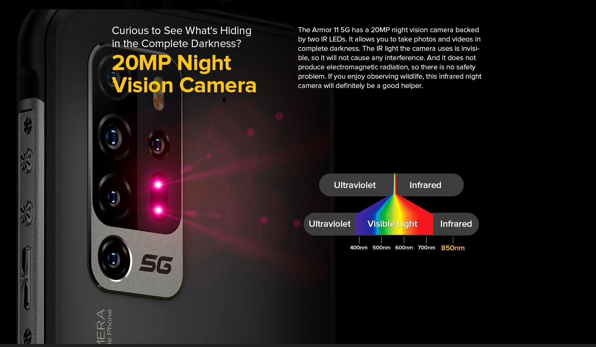 Ulefone Armor 11 - Nightvision camera