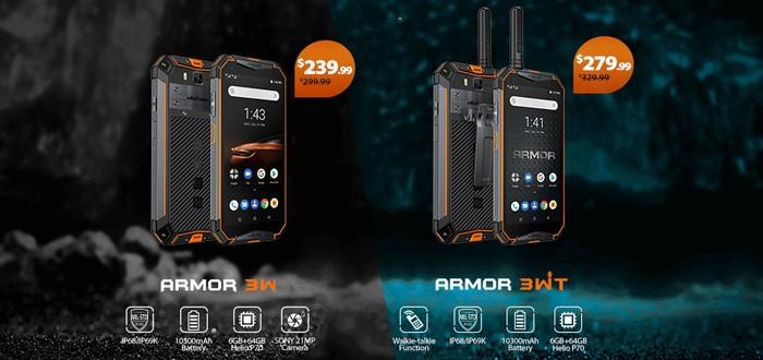 Ulefone Armor 3W és 3WT promotion