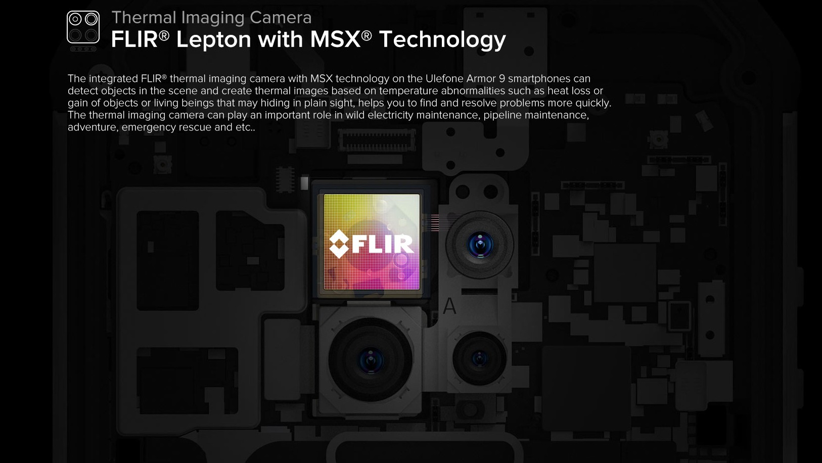 Ulefone Armor 9 - FLIR Thermal Imaging Camera