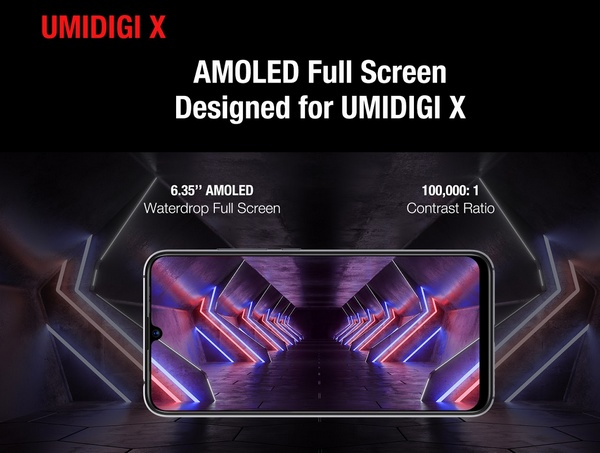 UMIDIGI X display