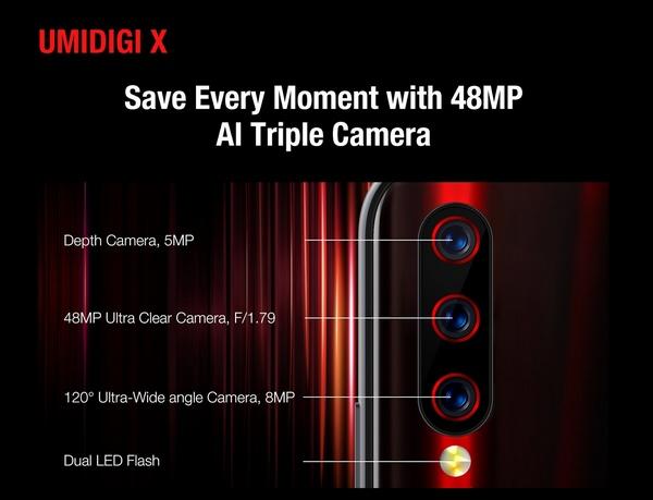 UMIDIGI X Camera