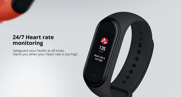 Mi Band 4 Heart Rate monitoring