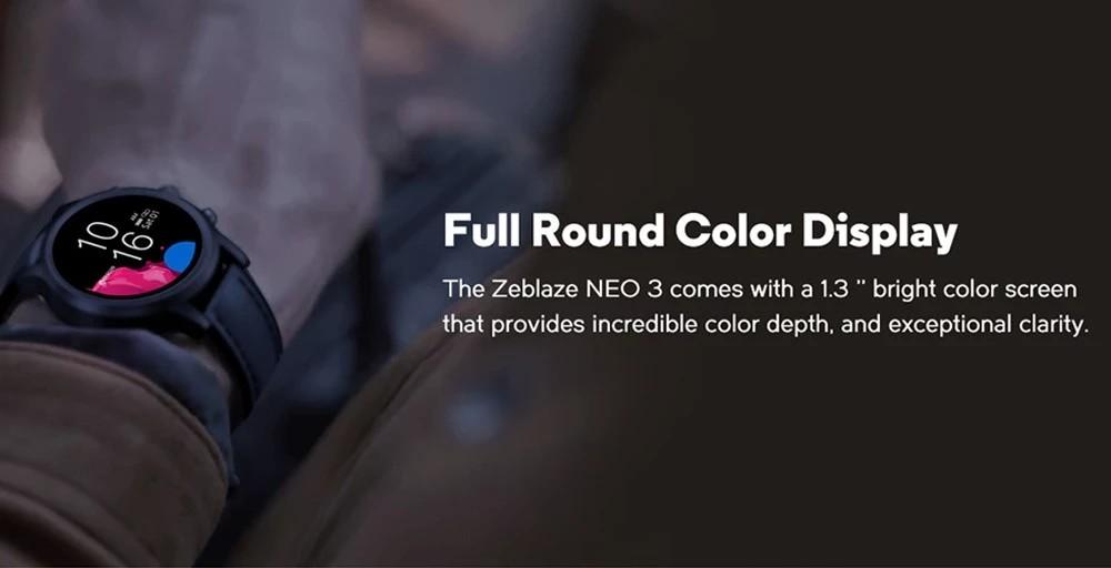 Zeblaze NEO 3 - Full Round Color Display
