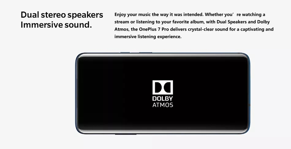OnePlus 7 Pro - Dolby Atmos speakers