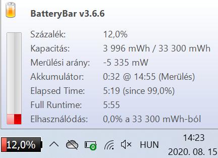 Chuwi HeroBook Pro - Üzemidő
