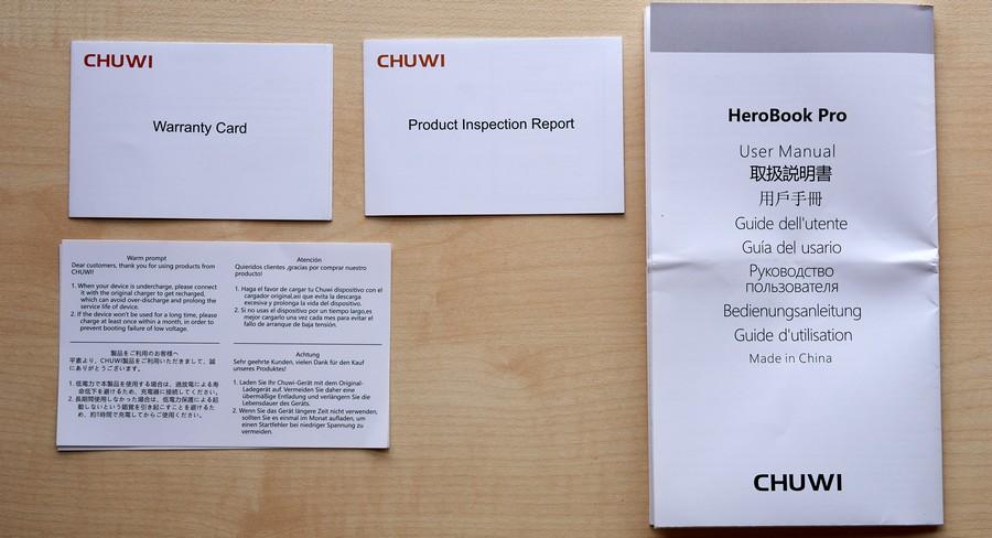 Chuwi HeroBook Pro - Manuals